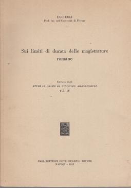 SUI LIMITI DI DURATA DELLE MAGISTRATURE ROMANE