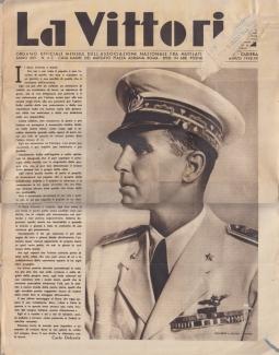 LA VITTORIA ORGANO UFFICIALE MENSILE DELL'ASSOCIAZIONE NAZIONALE FRA MUTILATI E INVALIDI DI GUERRA ANNO XXV - MARZO 1942