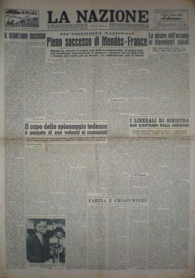 La nazione italiana sabato 24 luglio 1954