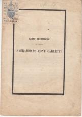 CENNO NECROLOGICO DEL CAVALIERE EVERARDO DE' CONTI CARLETTI