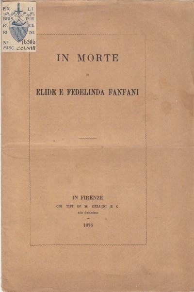 In morte di elide e fedelina fanfani - Ariodante Le Brun