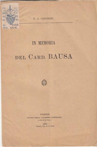 In memoria del card. bausa - Ghignoni P.a.