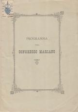 PROGRAMMA DEL CONGRESSO MARIANO
