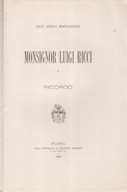 MONSIGNOR LUIGI RICCI RICORDO