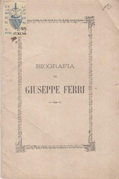 Del giovane giuseppe ferri biografia per il sacerdote emilio chiarini