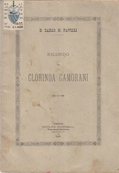 Ricordo di clorinda camorani - D. Carlo M. Favilli