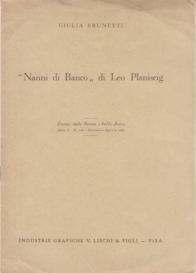 Nanni di banco di leo planiscig - Brunetti Giulia