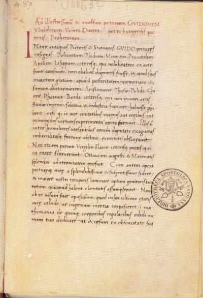 Libellus de quinque corporibus regolaris fac simile del codice urbinate latino 632 della biblioteca apostolica vaticana - Piero Della Francesca