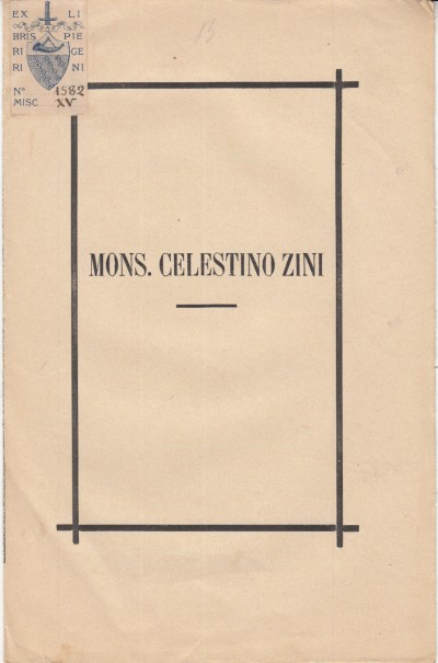 Mons. celestino zini