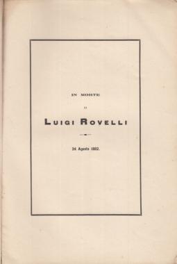 IN MORTE DI LUIGI ROVELLI 24 AGOSTO 1882