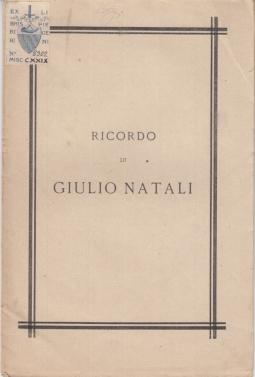 PER RICORDO DI GIULIO NATALI ALCUNI AMICI