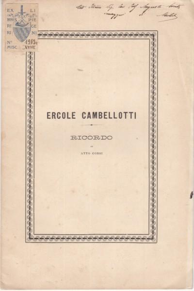 Ercole cambellotti - Corsi Atto