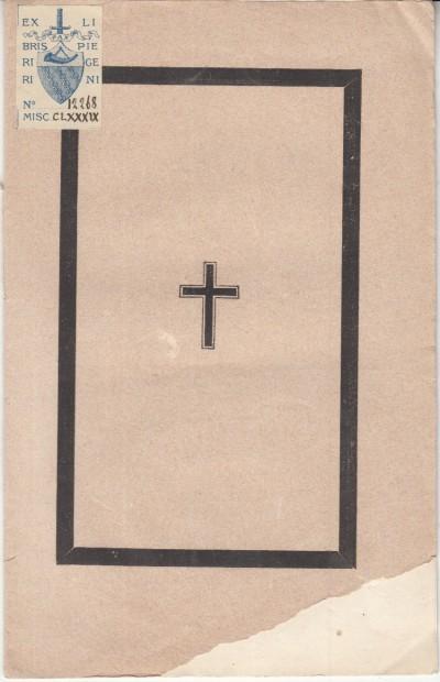 All'anima desideratissima del cardinale cosimo corsi ottimo padre pastore vigilantissimo i pisani al 12 novembre 1870 nella chiesa di s.ta eufrasia offrono riconoscenti suffragi e onori - ode
