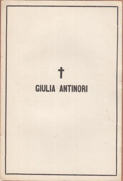 Memoria di giulia antinori scritta in pergamena e chiusa dentro il suo sepolcro nella cappella di cigliano