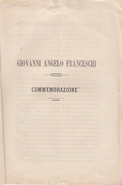Giovanni angelo franceschi commemorazione - Prina Benedetto
