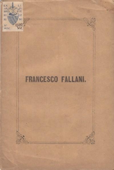 Francesco fallani ricordo di maro ricci d.s.p. - Ricci Mauro D.s.p.