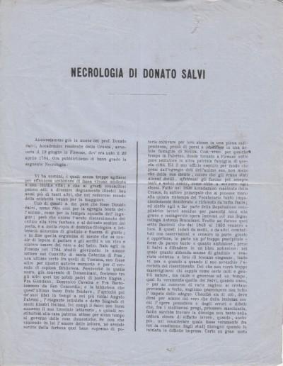 Necrologia di donato salvi