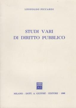 STUDI VARI DI DIRITTO PUBBLICO
