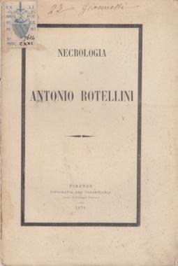 NECROLOGIA DI ANTONIO ROTELLINI