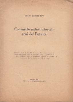 COMMENTO METRICO A TRE CANZONI DEL PETRARCA