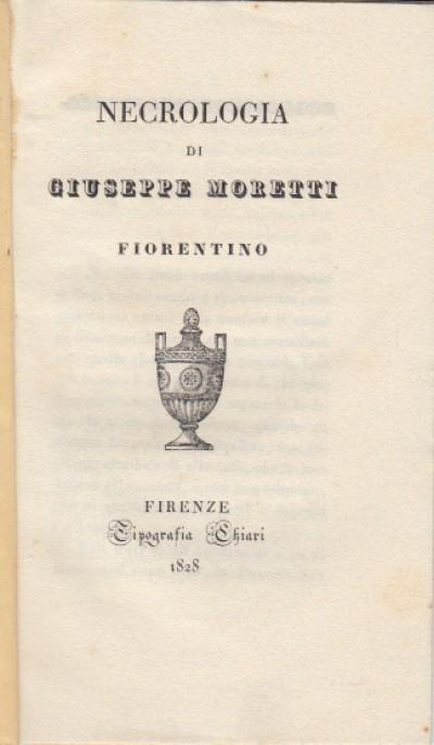 Necrologia di giuseppe moretti fiorentino