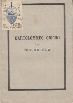 BARTOLOMMEO ODICINI NECROLOGIA
