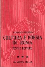 CULTURA E POESIA IN ROMA TESTI E LETTURE III ETÀ IMPERIALE E CRISTIANA
