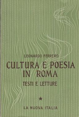 CULTURA E POESIA IN ROMA TESTI E LETTURE I ETÀ REPUBBLICANA