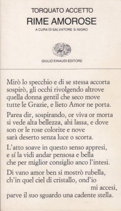 Rime amorose - Accetto Torquato