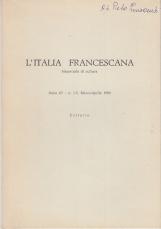 """IL CAPPUCCINO FRANCESCO M. CASINI DEL """"DIZIONARIO BIOGRAFICO DEGLI ITALIANI""""."""