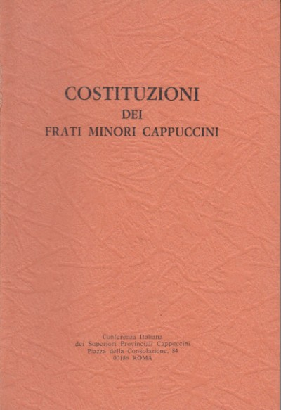 Costituzioni dei frati minori cappuccini