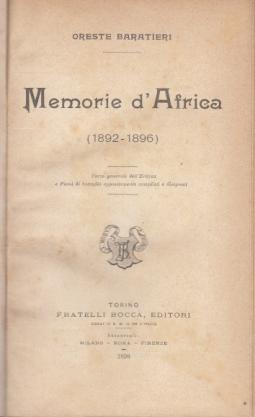 MEMORIE D'AFRICA 1892-1896