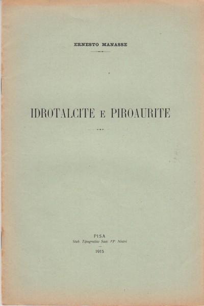 Idrotalcite e piroaurite - Manesse Ernesto