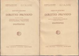 ISTITUZIONI DI DIRITTO PRIVATO VOLUME PRIMO VOLUME SECONDO
