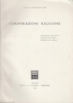 CORPORAZIONI RELIGIOSE