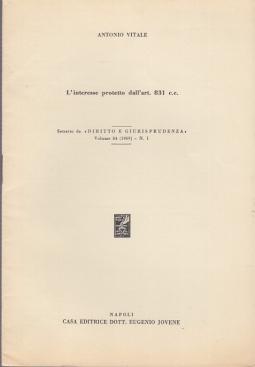 L'INTERESSE PROTETTO DALL'ART. 831 C.C.