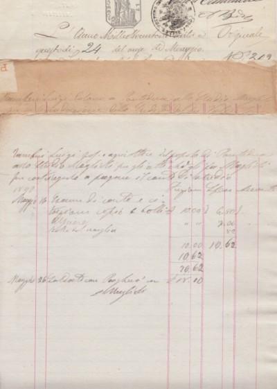 Citazione in giudizio manoscritta avente ad oggetto una causa tra andrea maglioli avvocato di pontedera e luigi tamberi colono di pontedera