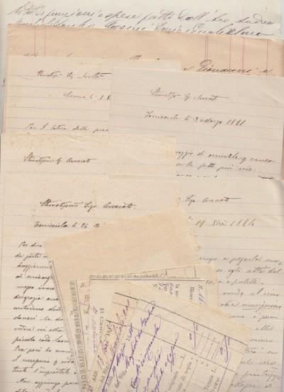 Serie di lettere del sig. dario casini di soiana di terricciola all'avvocato andra maglioli di pontedera