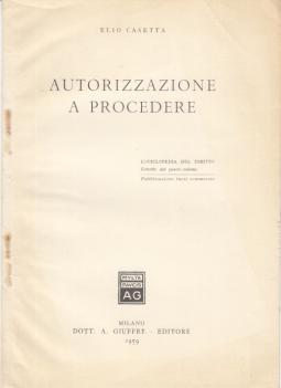 AUTORIZZAZIONE A PROCEDERE