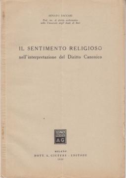 IL SENTIMENTO RELIGIOSO NELL'INTERPRETAZIONE DEL DIRITTO CANONICO