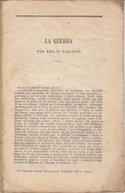 LA GUERRA PER EMILIO GIRARDIN