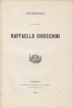 NECROLOGIA DEL DOTTORE RAFFAELLO CHIOCCHINI