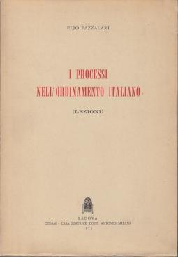 I PROCESSI NELL'ORDINAMENTO ITALIANO (LEZIONI)