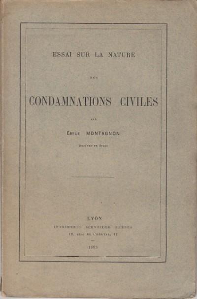 Essai sur la nature des condamnationes civiles - Émile Montagnon