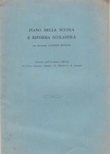 PIANO DELLA SCUOLA E RIFORMA SCOLASTICA