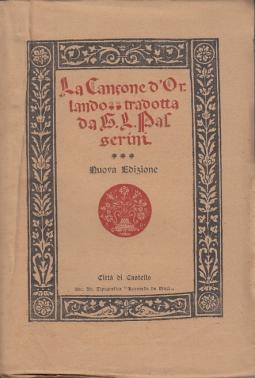 LA CANZONE D'ORLANDO TRADOTTA DA G.L. PASSERINI