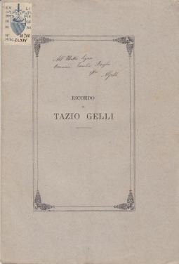 RICORDO DI TAZIO GELLI