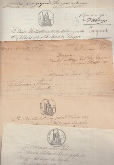 Documentazione manoscritta di carattere giuridico avente come parti eugenio mazzei nato a san frediano a settimo di professione commerciante contro cesare cecchelli commerciante domiciliato a pontedera