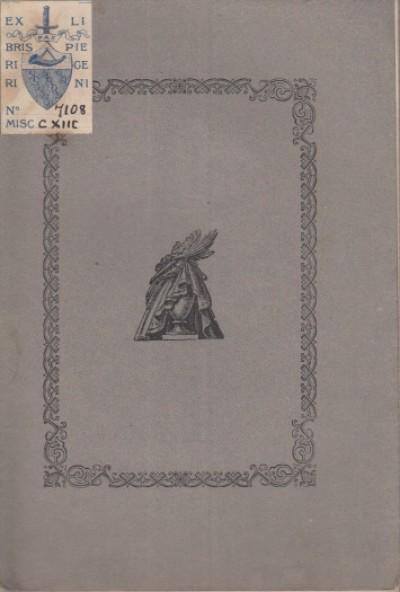 A mia moglie corinna picchianti-bonaretti morta a trentun anno in firenze il 17 marzo 1887 - Bonaretti Adriano