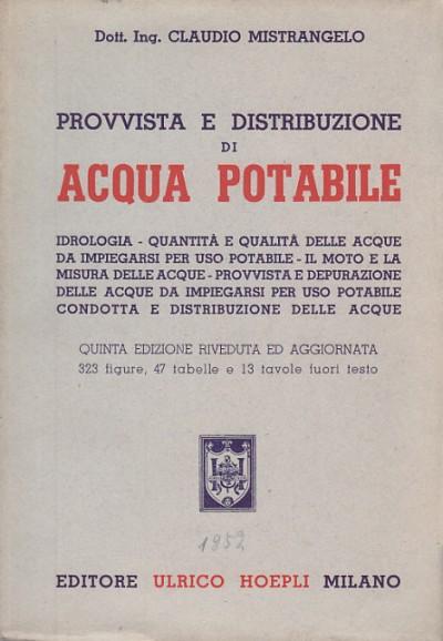 Provvista e distribuzione di acqua potabile - Mistrangelo Claudio
